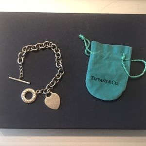 🖤Vintage Tiffany Heart Tag Toggle Bracelet 🖤